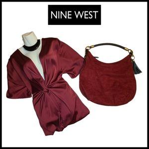 Vintage Nine West Suade Boho Purse